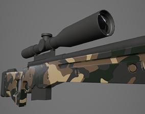Arctic Warfare Magnum Green Camo Sniper 3D model