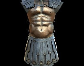 3D asset low-poly Body Armor