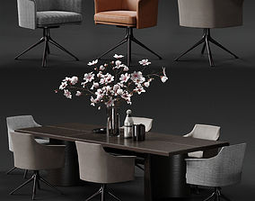 POLIFORM STANFORD Armchair and KENSINGTON Table 3D