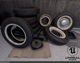 Modular old vintage wheel 3D asset