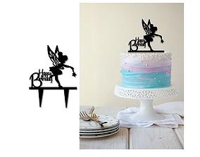 3D printable model Birthday cake topper set of 3