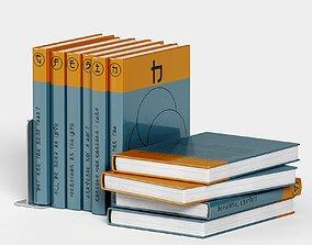 japanese book set 5 3D