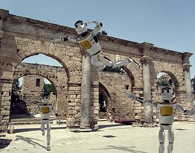 Robot Model industrial-robot rigged