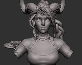 Elf Bust 3D Print Model