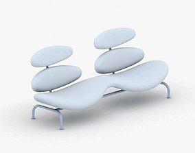3D asset low-poly 0579 - Armchair