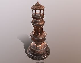 3D model realtime Superfuntimes Triumphal Tower Statue