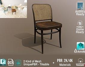 3D model Ton Chair 811 Old wood Design PBR - Lumion - UE4