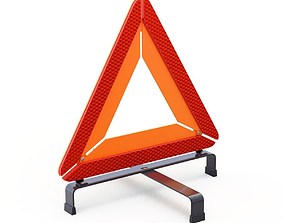 Warning Triangle 3D
