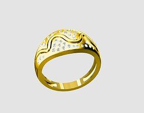 platinum Ladies ring 3D print model