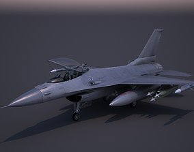 3D asset F-16 Fighter F16 Fighting Falcon