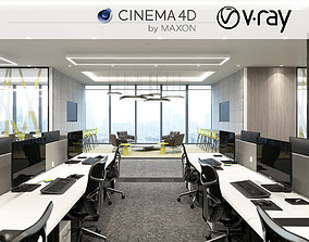 laptop VRay - C4D files - Office Space 3D model
