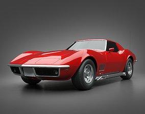 1969 Chevrolet Corvette retro 3D model
