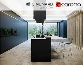 Corona - C4D Scene files - Kitchen Scene 3 3D