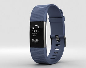 Fitbit Charge 2 Blue 3D