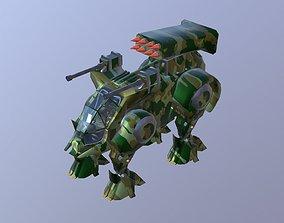 3D model Robot mech warrior military scifi