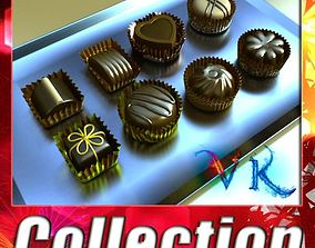 Chocolate Candy Assortment High res 3D model