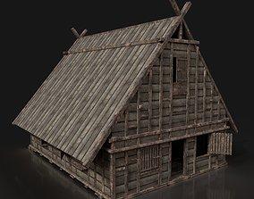 Next Gen AAA FANTASY MEDIEVAL WOODEN TOWN HOUSE 3D asset 2