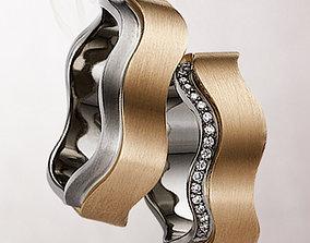 Wedding rings 099 3D print model