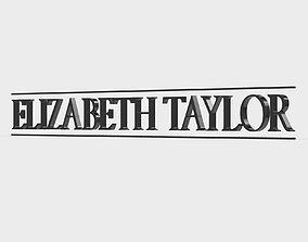 elizabeth taylor logo 3D model