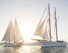 Recreation sailboat 3D model