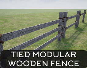 Wooden Fence garden 3D model realtime