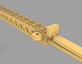 3D print model Narrow bracelet tennis cup chain with gems