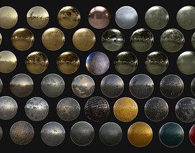 3D 45 Metal Seamless PBR Textures