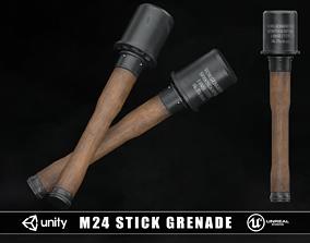 3D asset game-ready M24 WW2 German Stick Grenade
