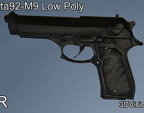 Beretta92 - M9 Low Poly 3D model