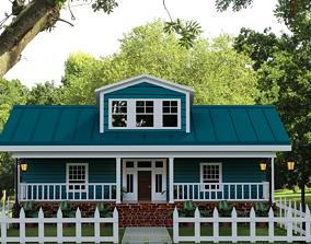 game-ready Exterior House Scene 3D Model