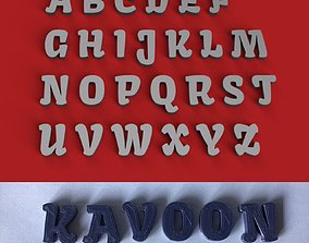 KAVOON uppercase and lowercase 3D Letters STL FILE