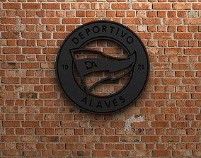 3D model Deportivo Alaves Logo