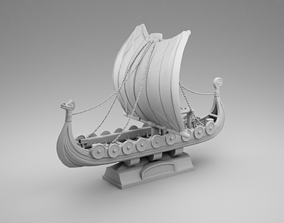 3D printable model Vikings warship