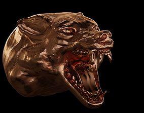 3D printable model Head of wolf