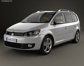 3D Volkswagen Touran with HQ interior 2010