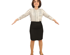 3D model No303 - Female T Pose