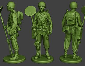 American engineer soldier ww2 Stand A9 3D printable model