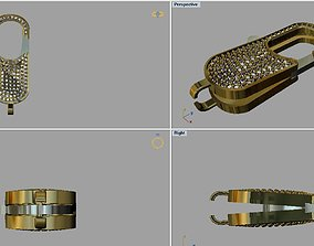 Spring Lock bracelet birdcage 3D printable model