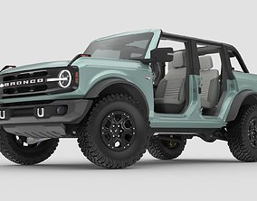 2021 Ford Bronco 4-door game ready 3D model