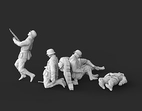 3D printable model German soldiers crews