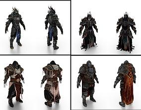 Fantasy Full Body Armors 3D model