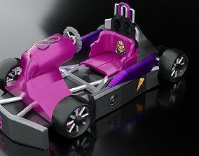 3D asset karting car