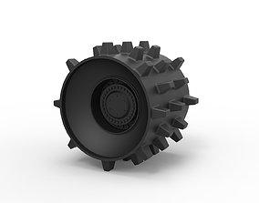 Diecast Compactor wheel 3D printable model