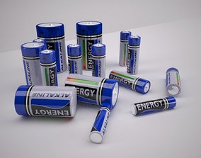 3D model Alkaline Batteries