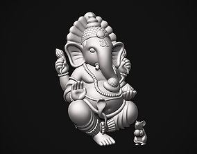 Ganesh ji with Mushak raj 3D print model