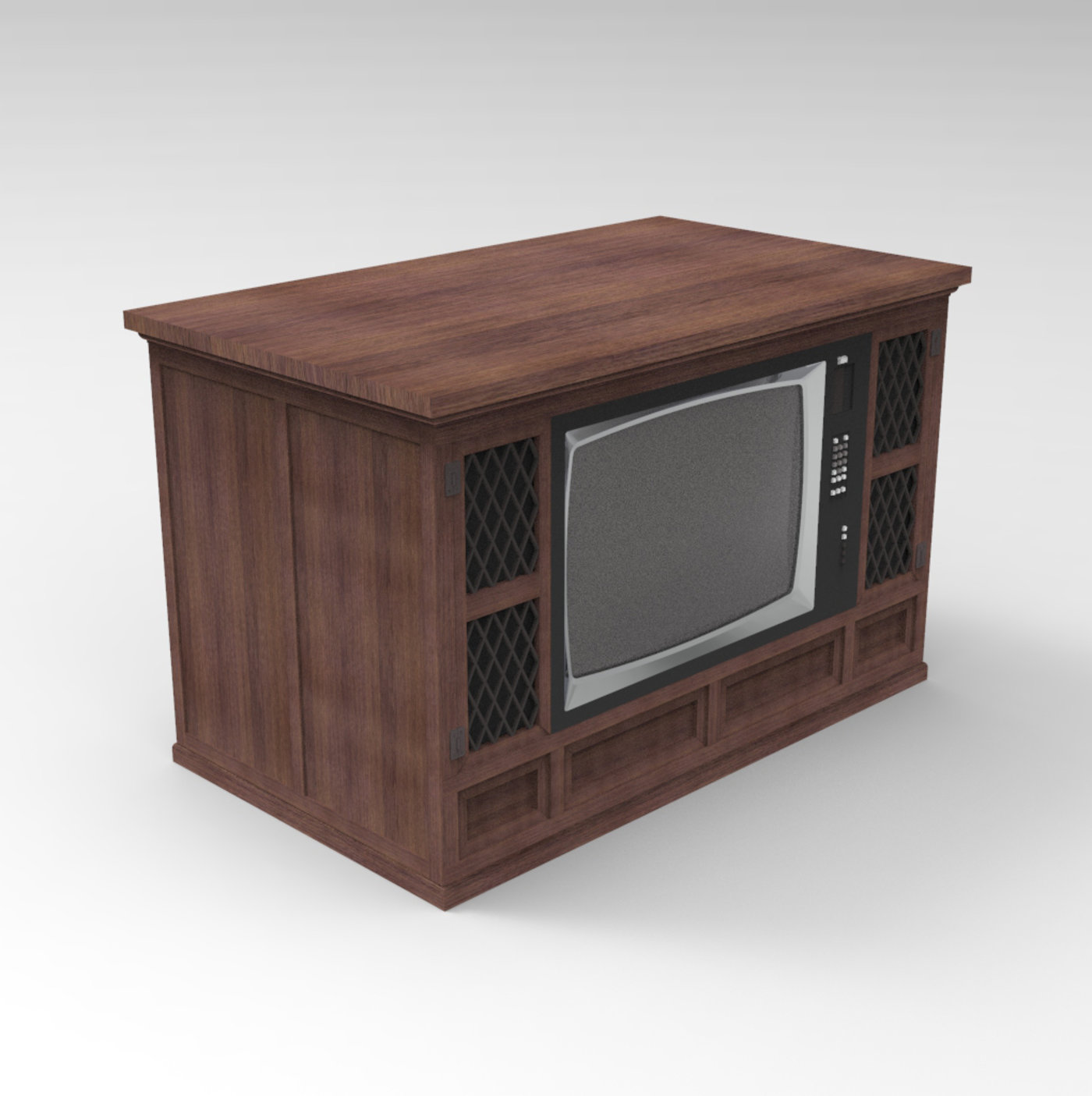 Old wooden console television