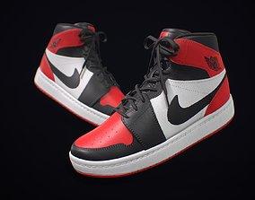 3D model VR / AR ready Sneaker Nike Air Jordan Red White