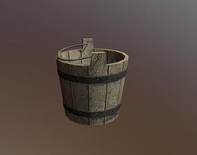 3D Wooden Bucket