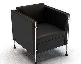 3D Modern Black Chair 38066