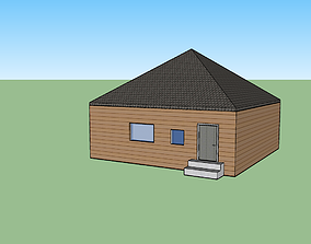 simple house 3D asset realtime